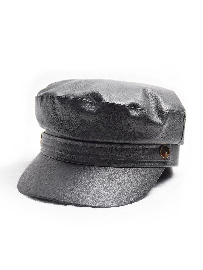 New Winter PU Painter Casual Cadet Cap