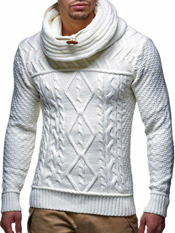 Chic Casual Geometric Pattern Pullover Sweater