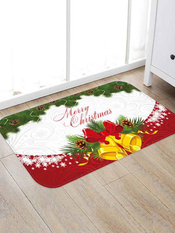 Outfit Merry Christmas Bell Pattern Floor Rug