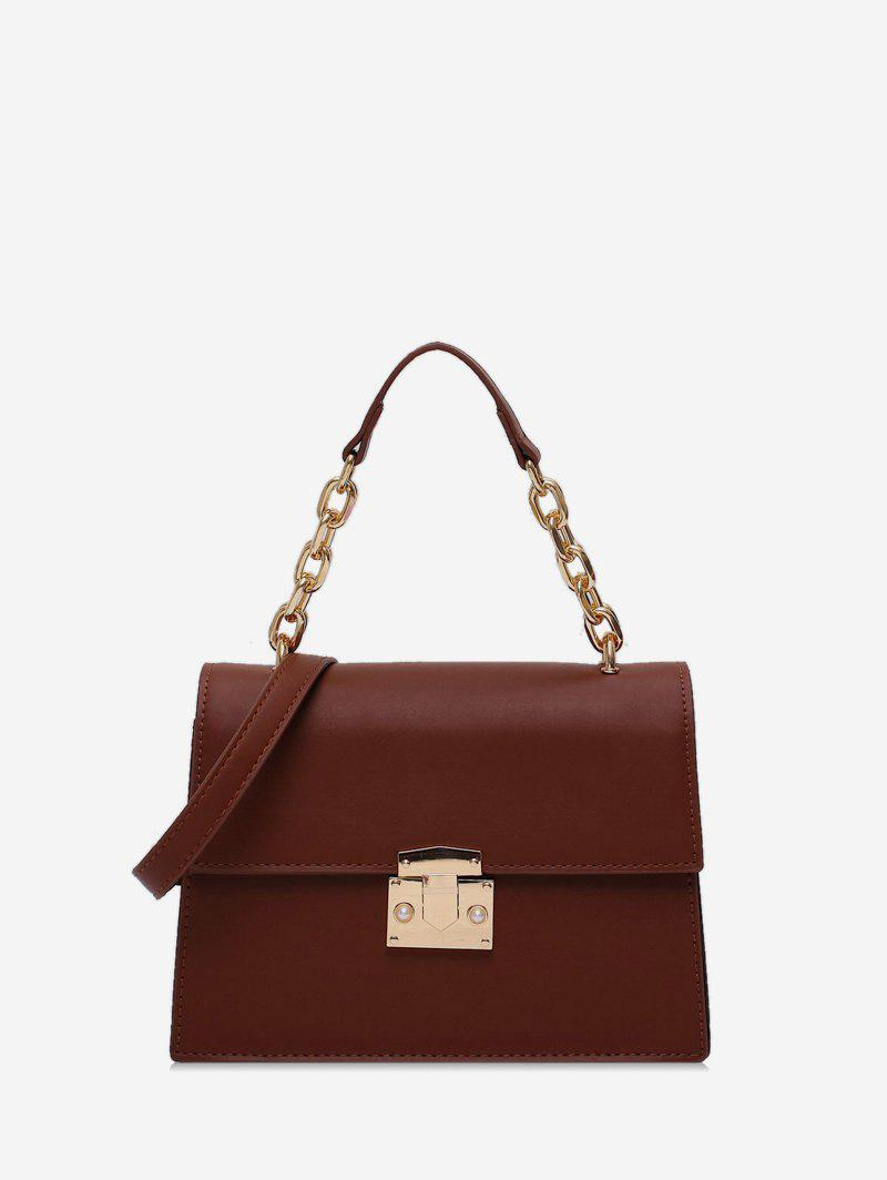 Outfit Chain Handle Square Flap Crossbody Bag