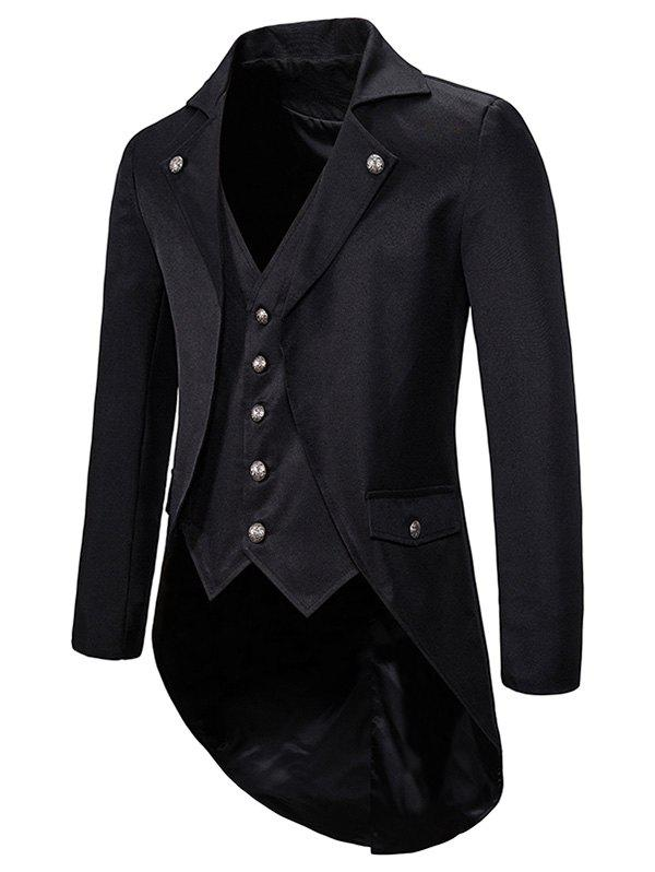 Store High Low Back Split Tuxedo Coat