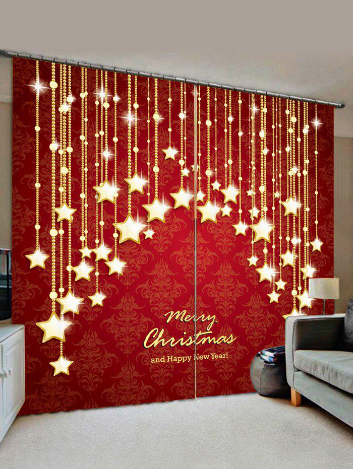 Shop Merry Christmas Star Pattern Window Curtains