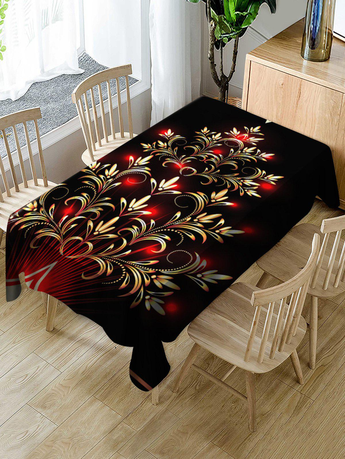 Chic Christmas Design Waterproof Table Cloth