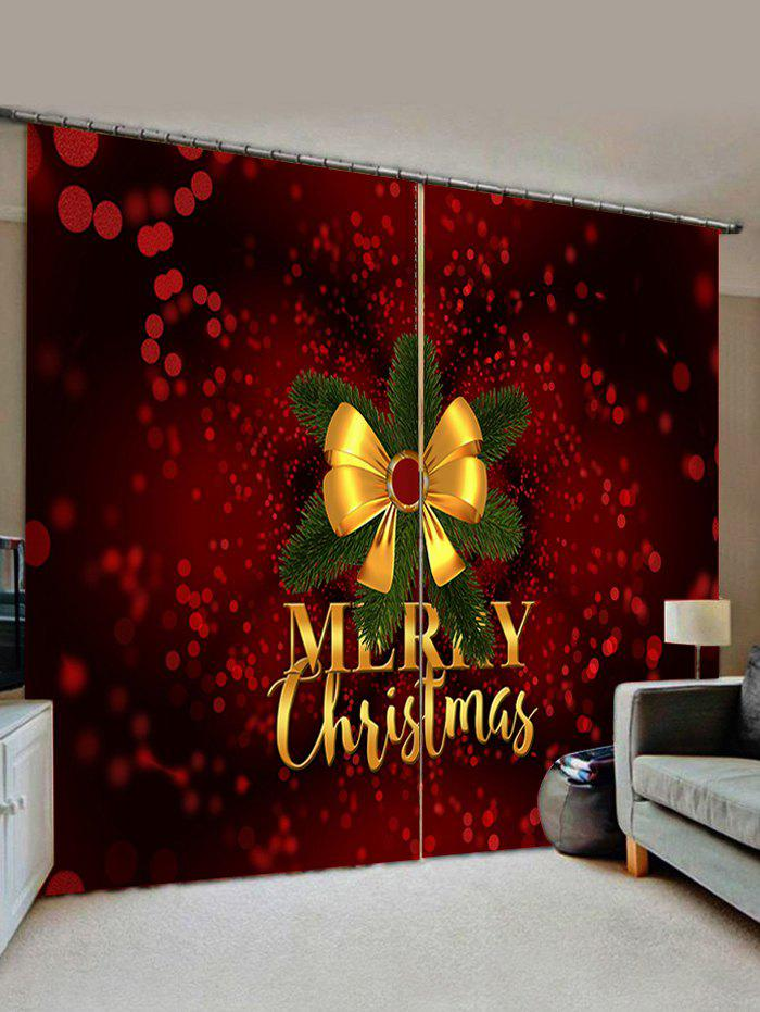 Trendy Merry Christmas Knot Pattern Window Curtains