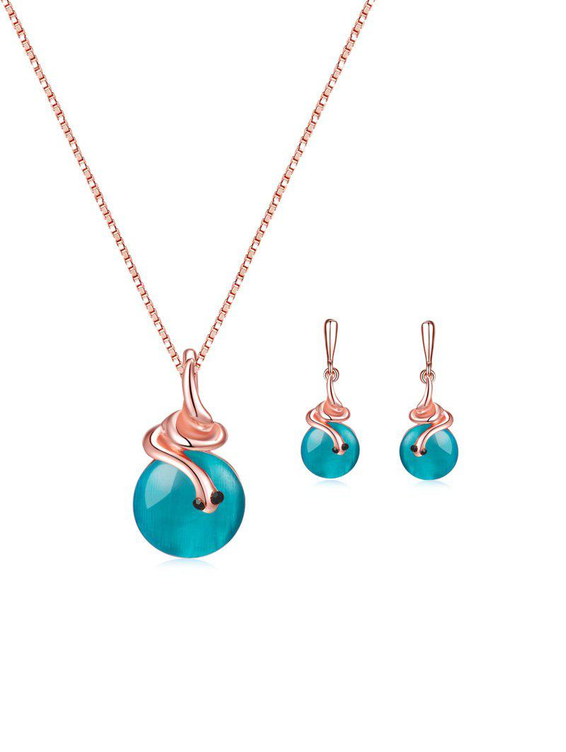 Shops Faux Gem Snail Necklace and Earrings