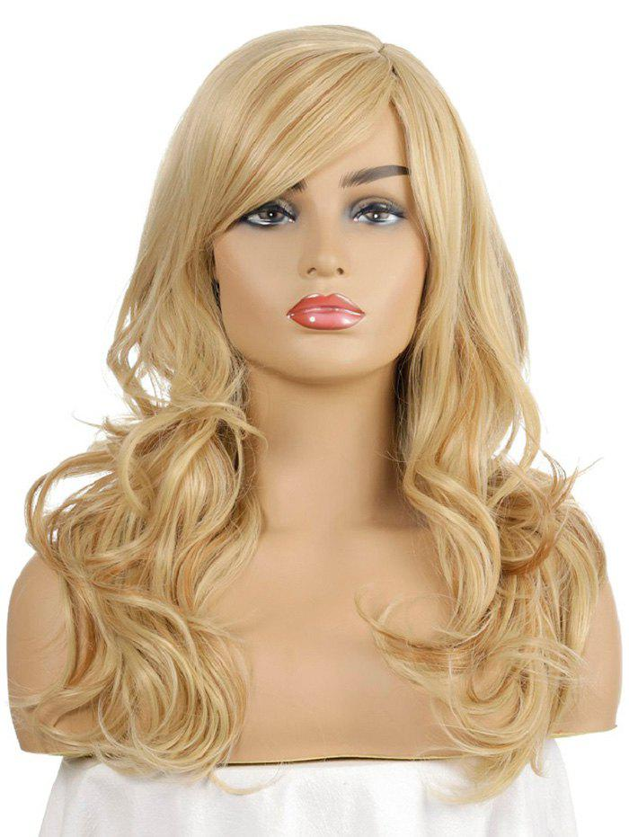 Trendy Side Bang Body Wave Synthetic Long Wig
