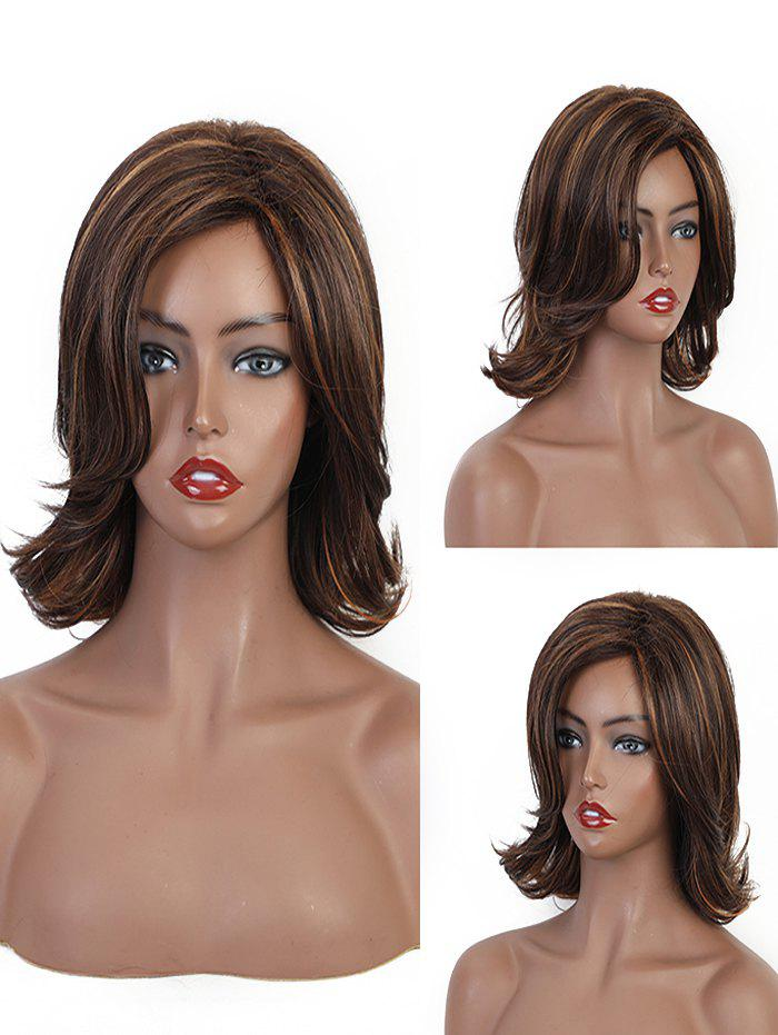 Hot Side Part Medium Straight Synthetic Wig