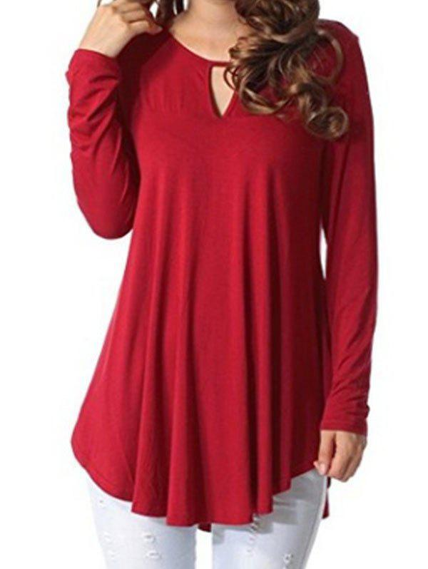 Outfit Keyhole Long Sleeve Top