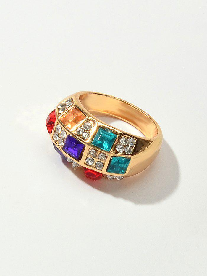 Outfits Colored Faux Gemstone Rhinestone Ring