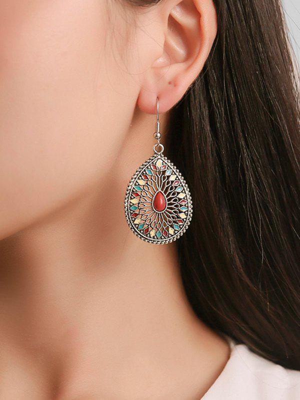 Best Ethnic Teardrop-shaped Carved Hollow Earrings