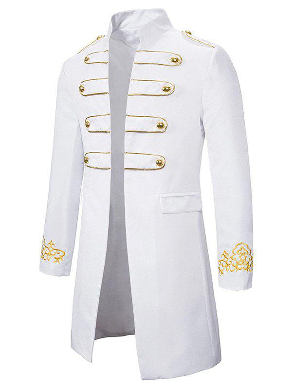Cheap Embroidery Open Front Long Palace Blazer