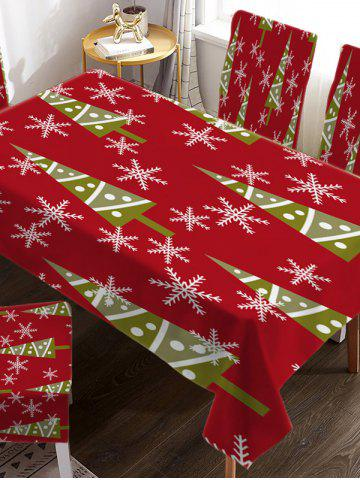 Christmas Design Fabric Waterproof Table Cloth - MULTI-A - W55 X L71 INCH