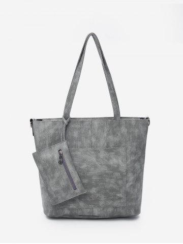 Simple Large Capacity Shoulder Bag with Coin Purse