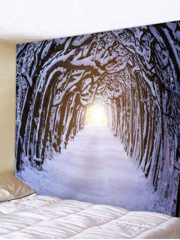 Forest Hole Road Print Tapestry Wall Hanging Art Decoration - MULTI - W91 X L71 INCH