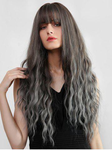 Ombre Full Bang Long Wavy Synthetic Wig