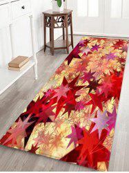 Geometric Star Print Flannel Floor Rug -