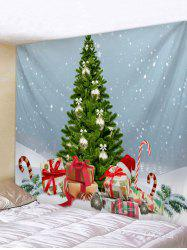 Christmas Tree Gifts Snow 3D Print Wall Tapestry -
