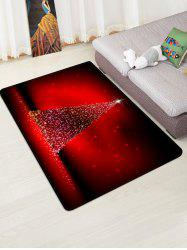Christmas Tree Lights Print Floor Rug -