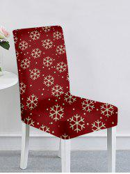 Christmas Tree Snowflake Elk Print Chair Cover -