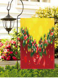 Christmas Tree Balls Print Garden Flag -
