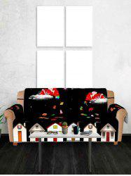 Christmas Night Santa Claus Gifts Pattern Couch Cover -