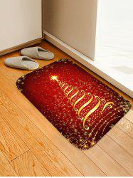 Christmas Stars Tree Patterned Water Absorption Area Rug -