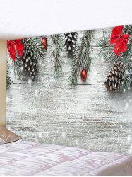 Christmas Tree Bowknot Wood Grain Print Tapestry Wall Hanging Art Decoration -