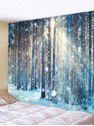 Sunlight Snow Forest Print Tapestry Wall Hanging Art Decoration -