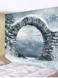 Tree Arch Lake Print Tapestry Wall Hanging Art Decoration -