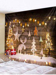 Christmas Tree Lights Gift Print Tapestry Wall Hanging Art Decoration -