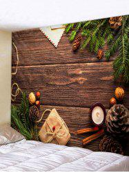Christmas Gift Wood Grain Print Tapestry Wall Hanging Art Decoration -