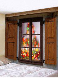 Christmas Window Stars Print Tapestry Wall Hanging Art Decoration -