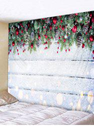 Christmas Wooden Pattern Tapestry -
