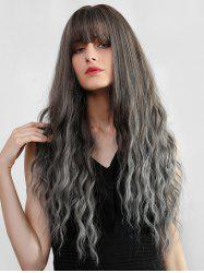 Ombre Full Bang Long Wavy Synthetic Wig -