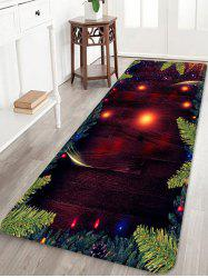 Christmas Tree Branch Wood Grain Pattern Water Absorption Area Rug -