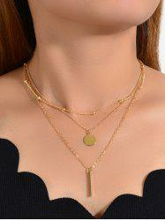 3Pcs Pendant Geometric Necklace Set -