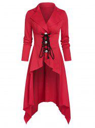 Lace Up Lapel Gothic aronde Jacket -