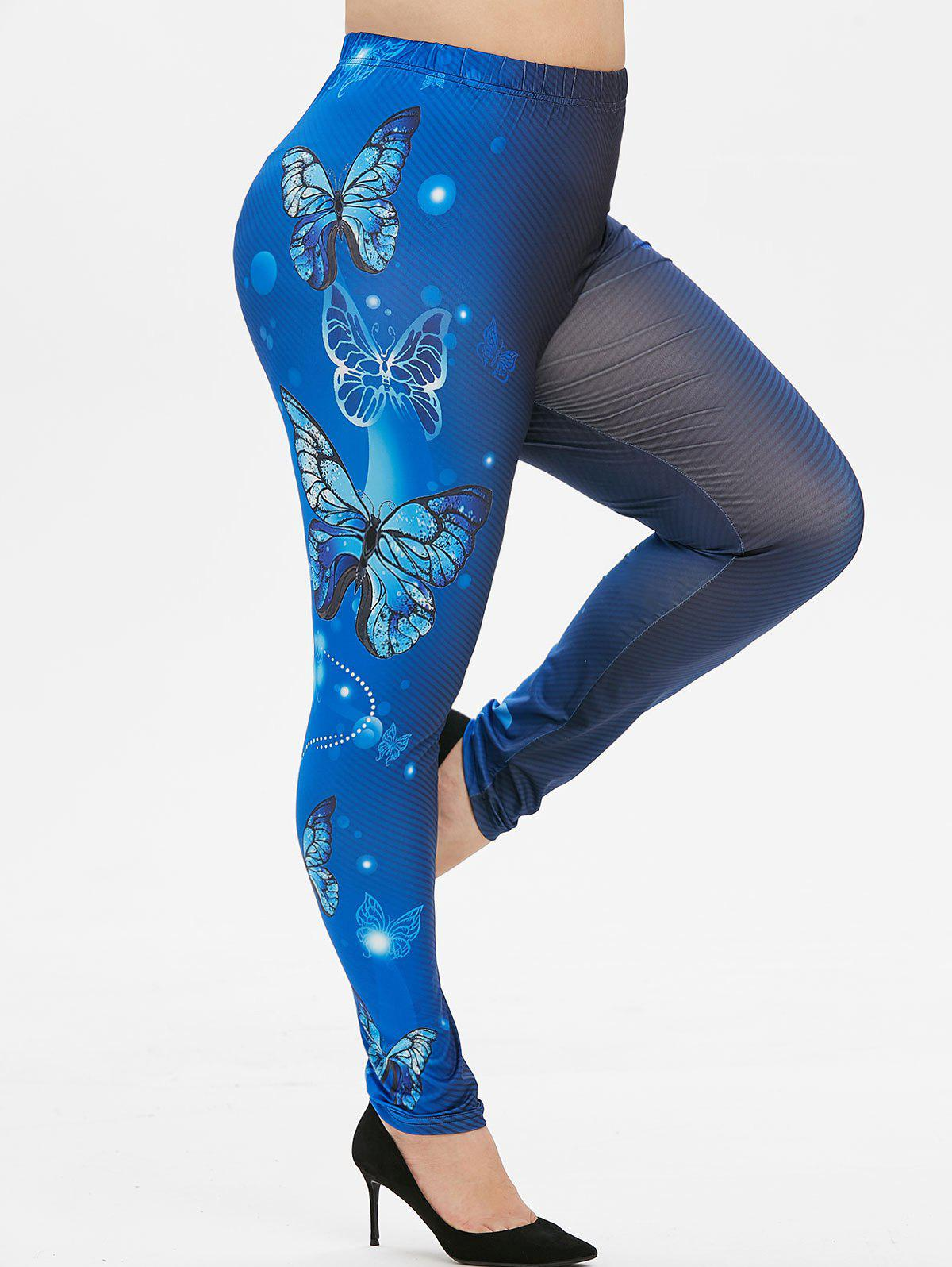 Outfits Plus Size Butterfly Print Leggings