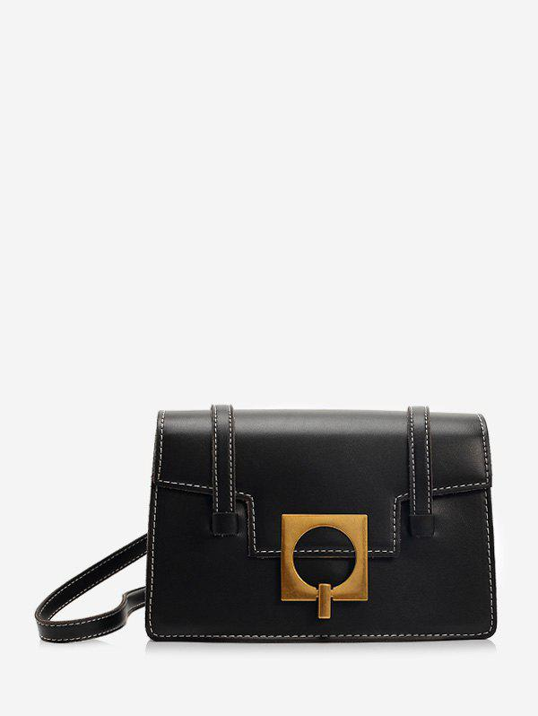 Discount Square Buckle Flap Crossbody Bag