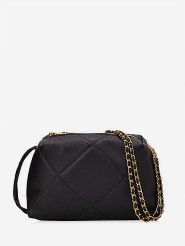 Affordable Simple Quilted PU Leather Crossbody Bag