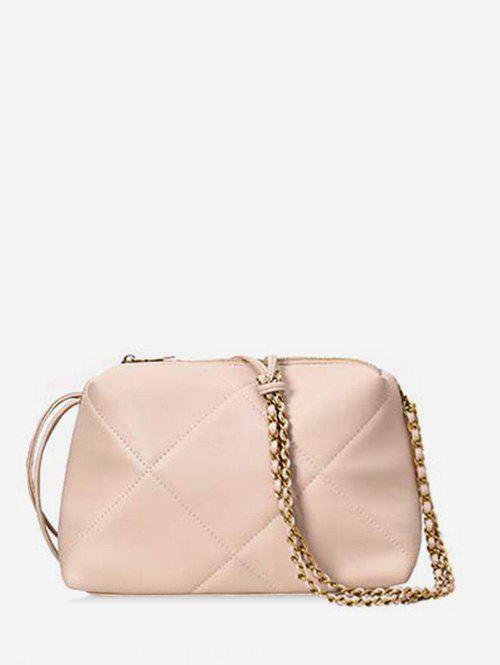 Outfit Simple Quilted PU Leather Crossbody Bag