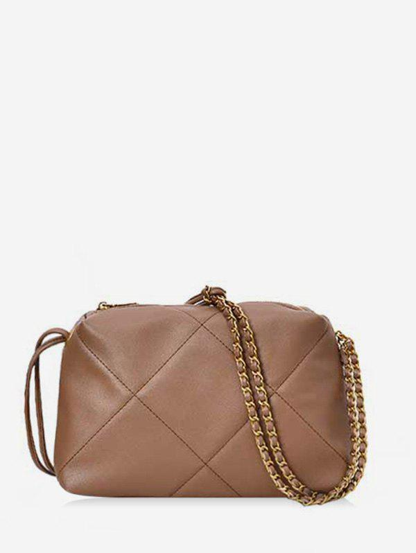 Shops Simple Quilted PU Leather Crossbody Bag