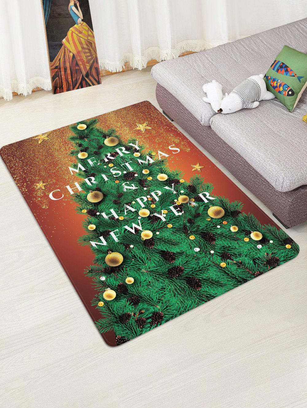 Unique Christmas Tree Star Print Floor Rug