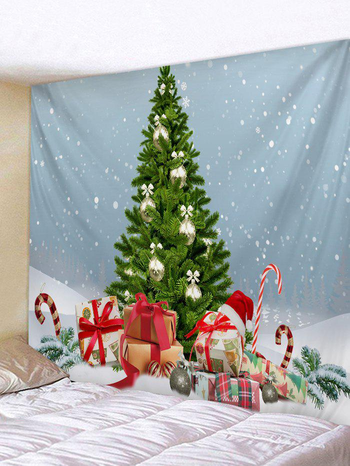 Shop Christmas Tree Gifts Snow 3D Print Wall Tapestry