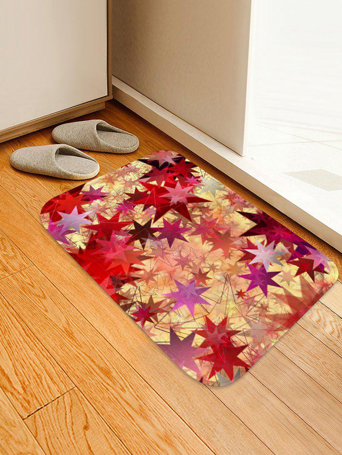 Buy Geometric Star Print Flannel Floor Rug