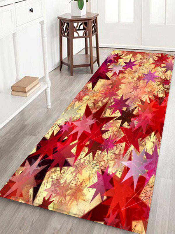 Hot Geometric Star Print Flannel Floor Rug