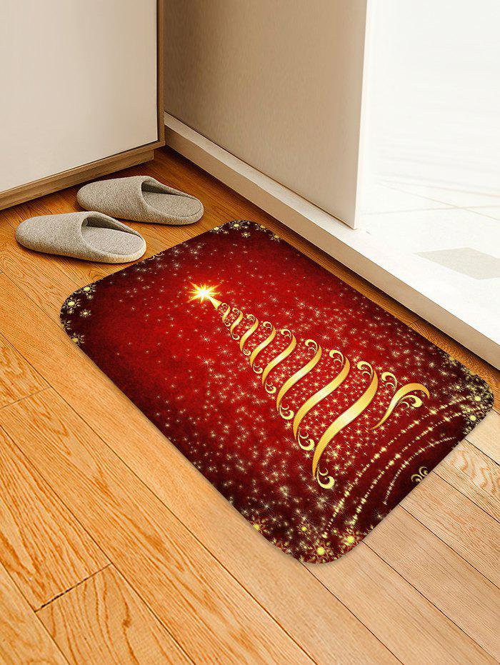 New Christmas Stars Tree Patterned Water Absorption Area Rug