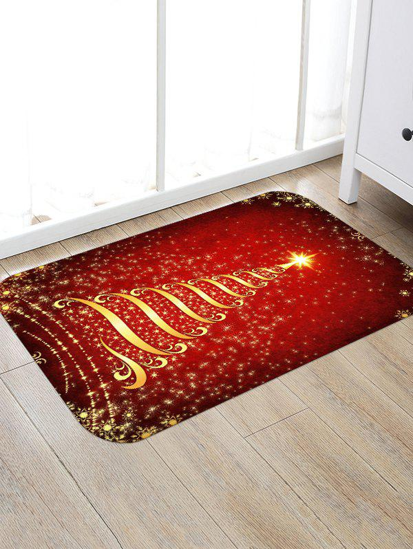 Shops Christmas Stars Tree Patterned Water Absorption Area Rug
