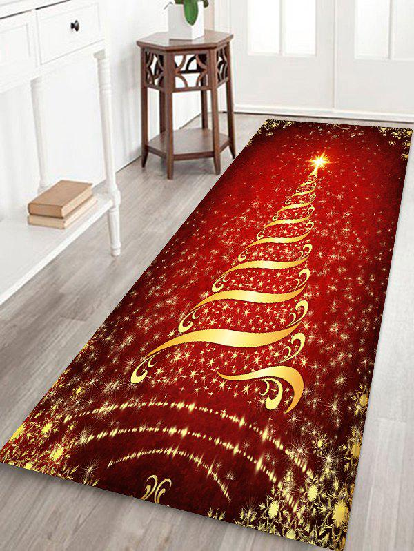 Fashion Christmas Stars Tree Patterned Water Absorption Area Rug