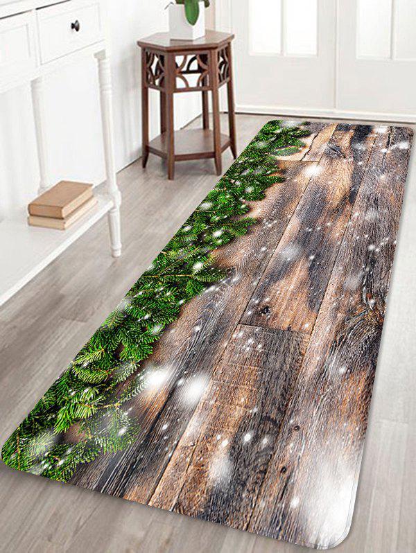 Shops Christmas Tree Branch Wooden Grain Pattern Water Absorption Area Rug